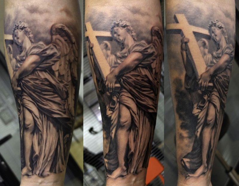xavi garcia boix tattoo retrato realismo portrait realism tatuaje valencia diversos random angelo
