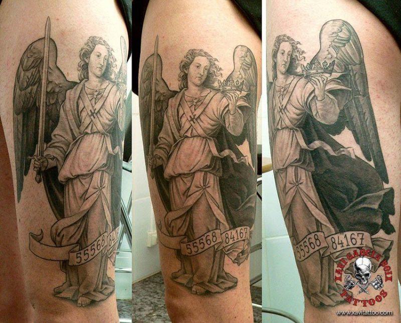 xavi garcia boix tattoo retrato realismo portrait realism tatuaje valencia diversos random guardian angel