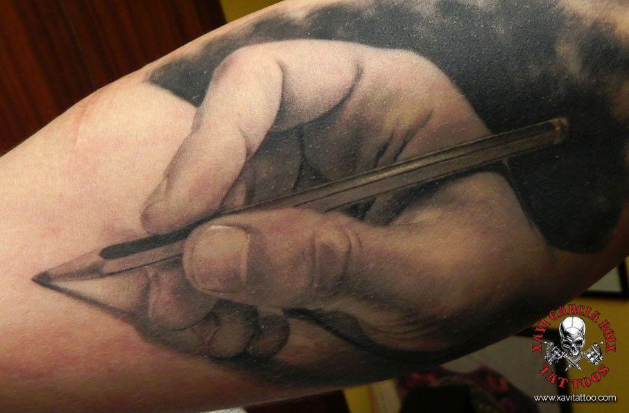 xavi garcia boix tattoo retrato realismo portrait realism tatuaje valencia diversos random pencil hand mano lapiz dibujo