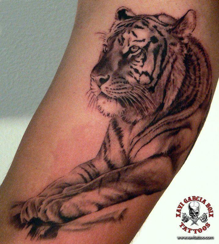xavi garcia boix tattoo retrato realismo portrait realism tatuaje valencia diversos random tigre tiger nature naturaleza wild