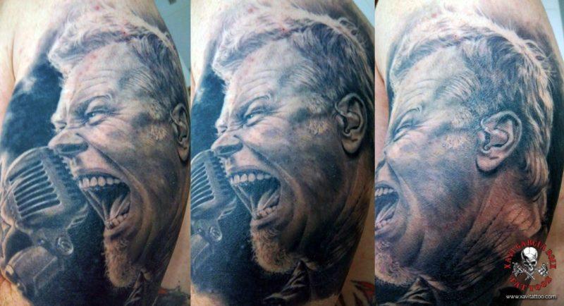 xavi garcia boix tattoo retrato realismo portrait realism tatuaje valencia tatuajes personajes famosos famous characters JAMES-HETFIELD-01