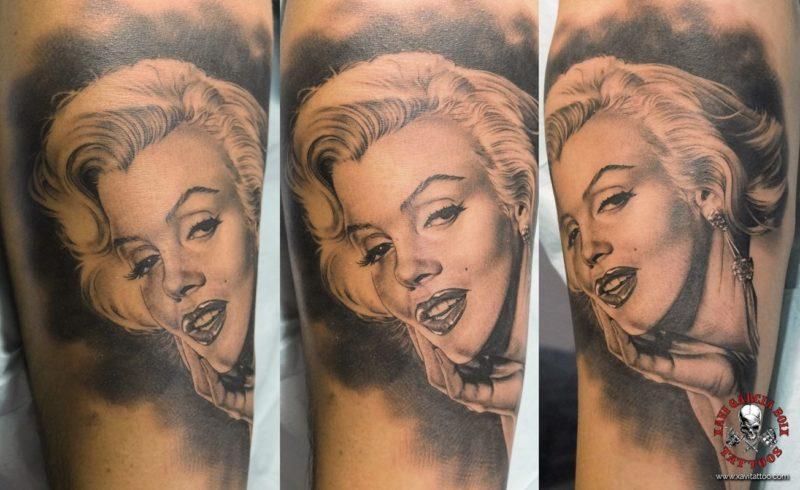 xavi garcia boix tattoo retrato realismo portrait realism tatuaje valencia tatuajes personajes famosos famous characters MARILYN-MONROE-03