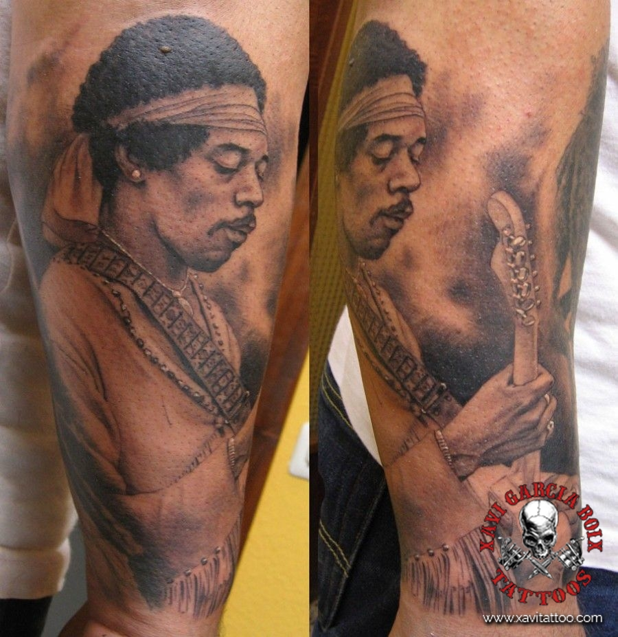 xavi garcia boix tattoo retrato realismo portrait realism tatuaje valencia tatuajes personajes famosos famous characters jimmy hendrix 02