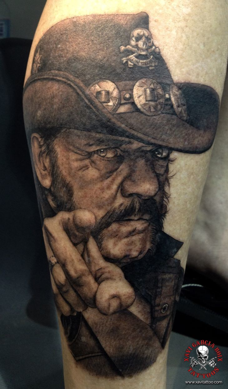 xavi garcia boix tattoo retrato realismo portrait realism tatuaje valencia tatuajes personajes famosos famous characters motorhead Lemmy Kilmister-01